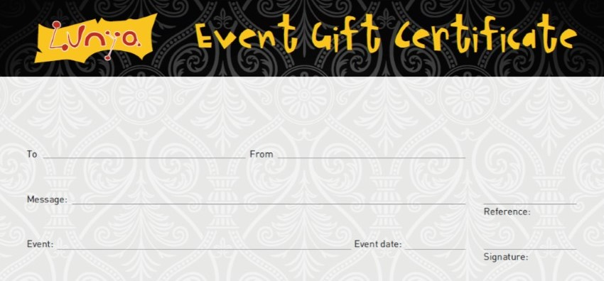 Special Event Gift Certificate