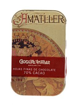 Buy Amatller Dark Chocolate Leaves online | Amatller Chocolate