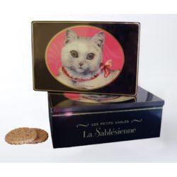 La Sablesienne Cat Tin online | Sable biscuits | Chocolate Chip Sable