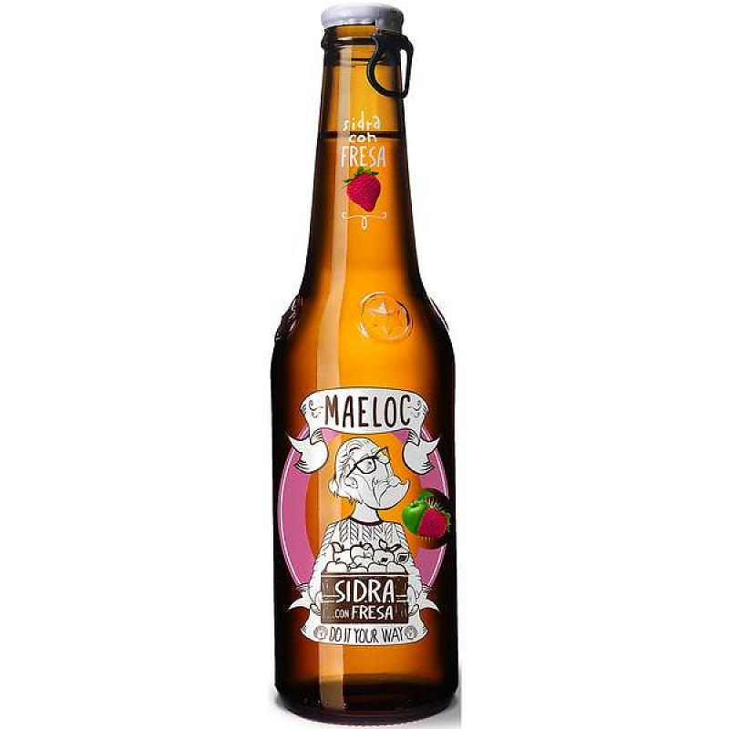 Maeloc Sidre Strawberry Flavoured Cider Lunya