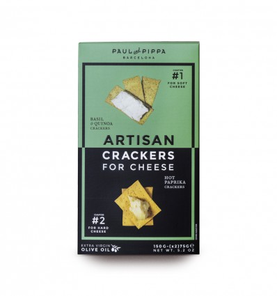 Buy Paul & Pippa Basil & Quinoa/Hot Paprika Crackers online