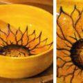Round Bowl Sunflowers