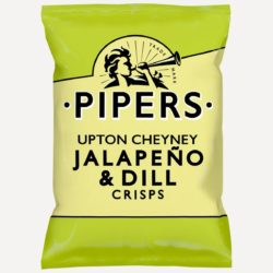Pipers Upton Cheyney Jalapeno & Dill Crisps 150g